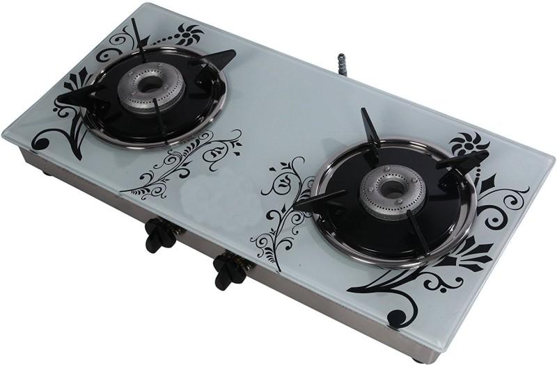 Suryajwala Toughned Glass Top Stainless Steel Manual Gas Stove(2 Burners)