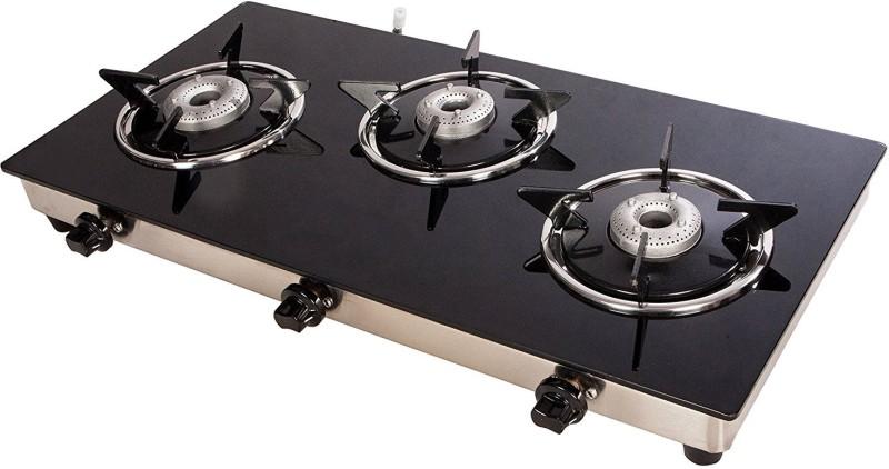 Suryajwala Surya GT03 AB Stainless Steel Manual Gas Stove(3 Burners)