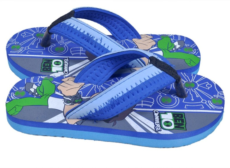Ben 10 Boys Slip On Slipper Flip Flop(Blue)