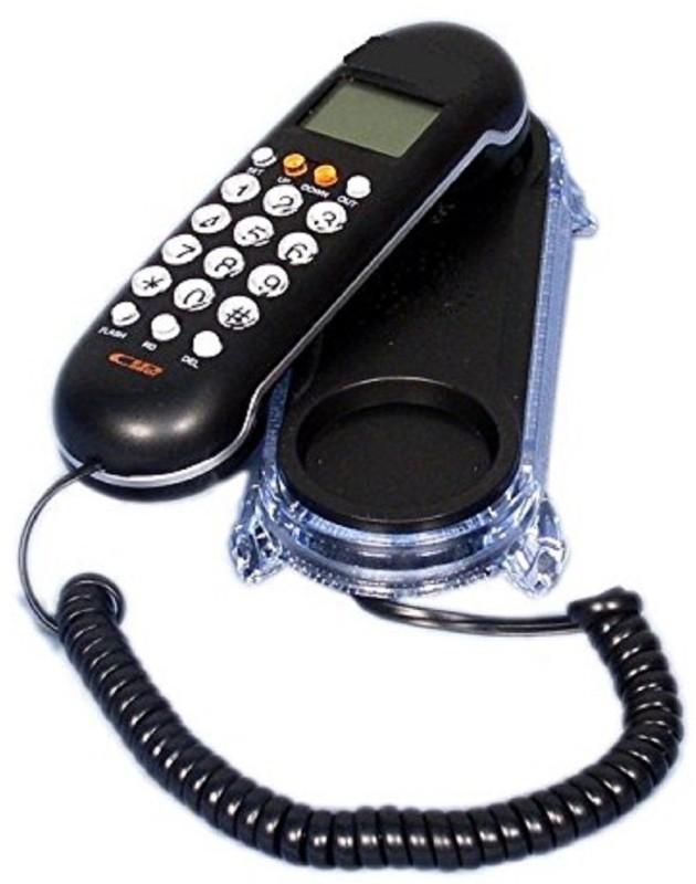 Italish KX - T666CID Landline Caller ID Phone Telephone Corded Phone Corded & Cordless Landline Phone with Answering Machine(Black)