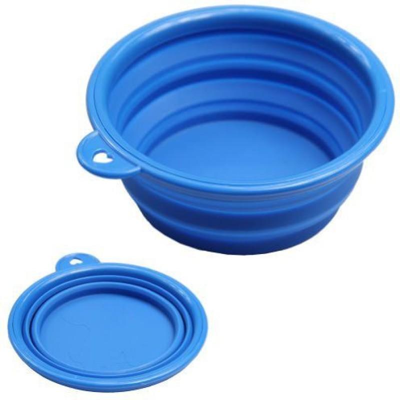 MERA PUPPY FBMP202 Travel Foldable Silicone Pet Bowl(500 ml Blue)