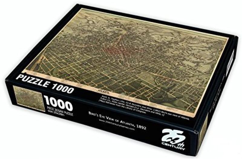 25Th Century Games BirdS Eye View Map Of Atlanta Puzzle(1000 Pieces)