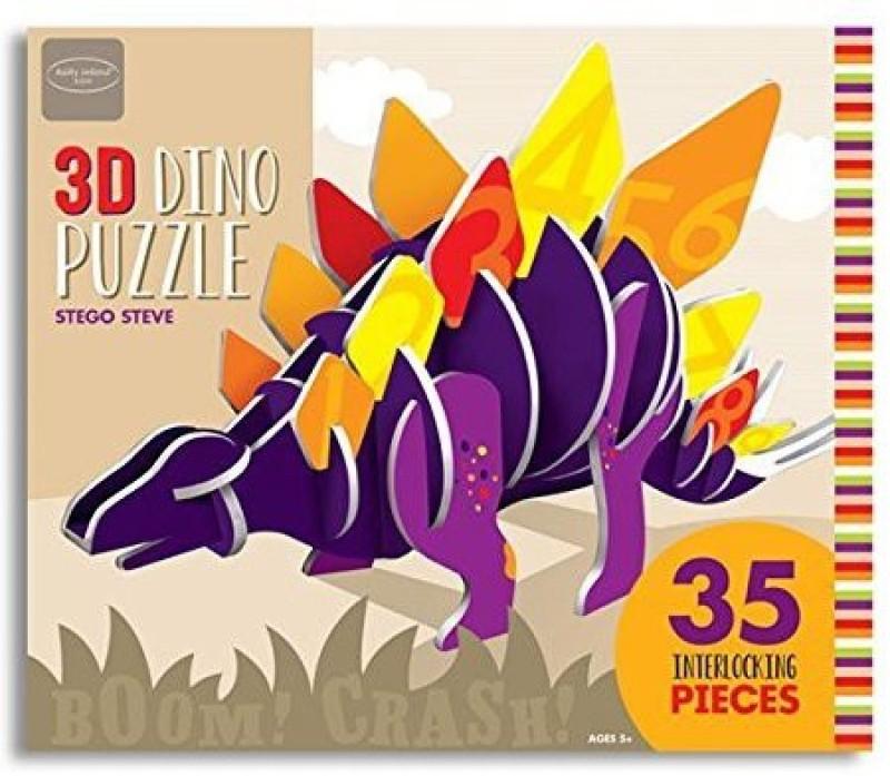 3D Dino Puzzle Kathy Ireland Kids Stego Steve(35 Pieces)