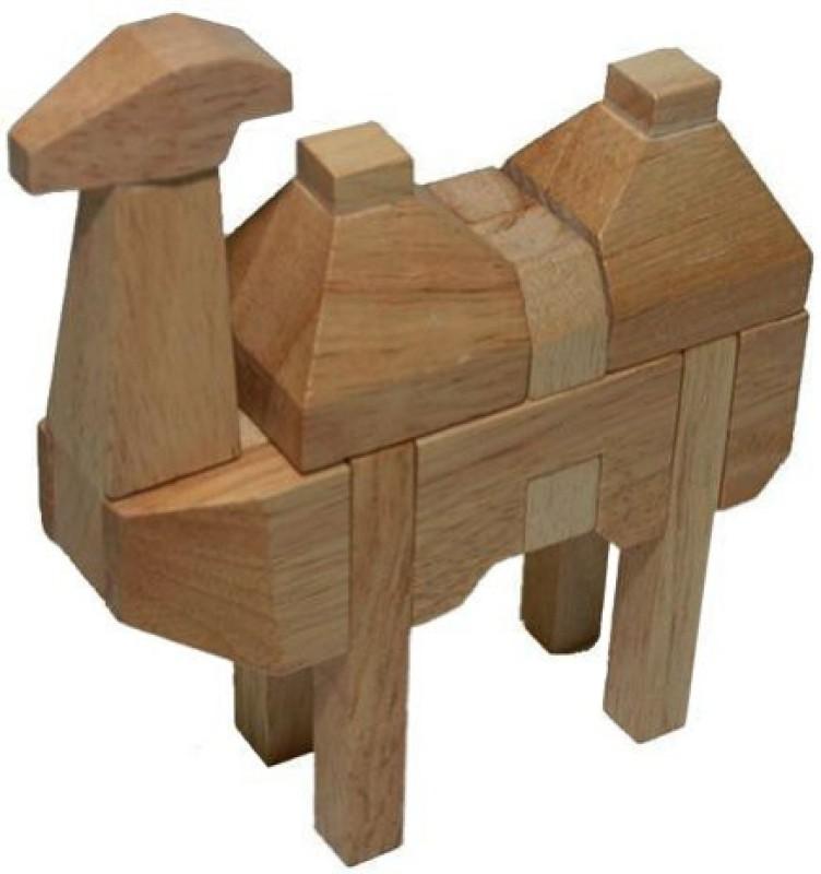 2PO 3D Wooden Camel Advanced Animal Puzzle Kumiki(36 Pieces)