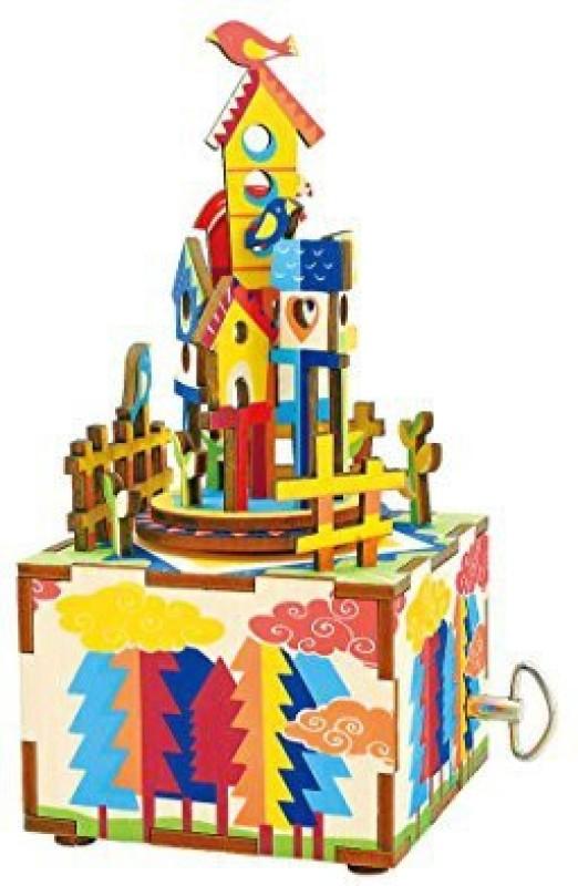 Robotime Castle In The Sky 3D Wooden Music Box Kit(1 Pieces)