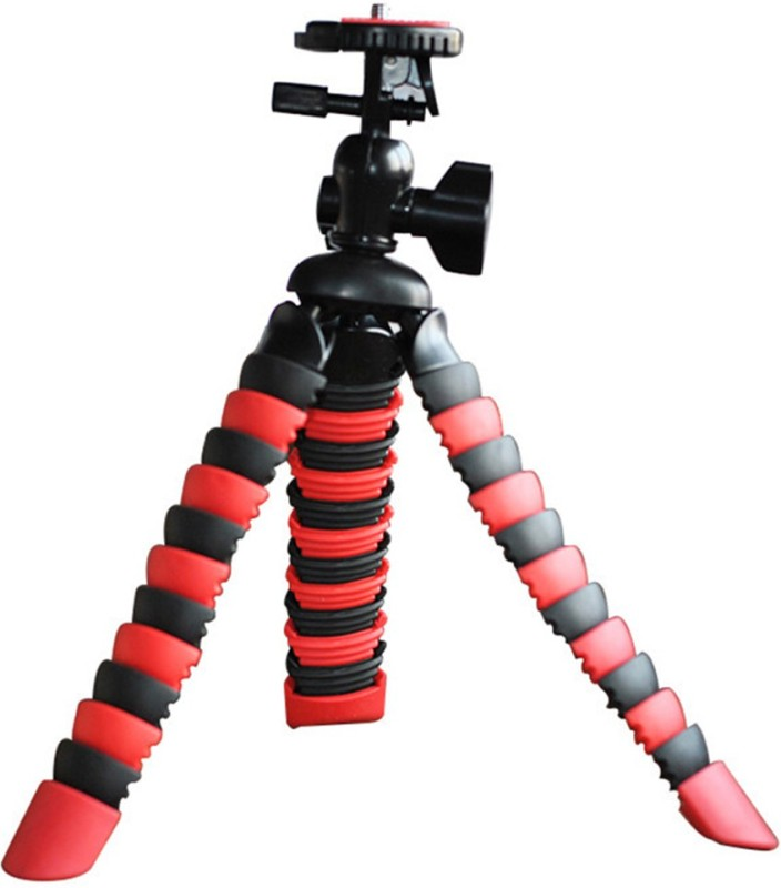Taslar Long heavy Flixible with mobile mount Holder and screws Tripod(Black, Red, Supports Up to 2 g)