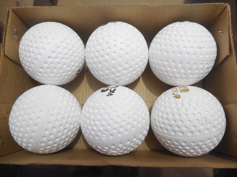 Victor fos Hockey Ball - Size: 5(Pack of 6, White)