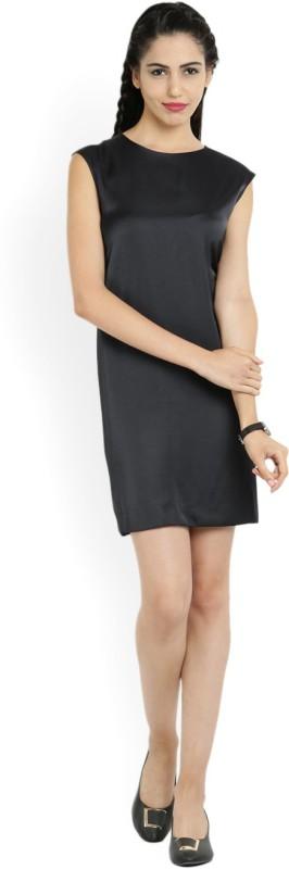 MANGO Women Shift Dark Blue Dress