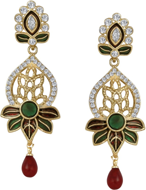 Divastri Leafy Alloy Drop Earring