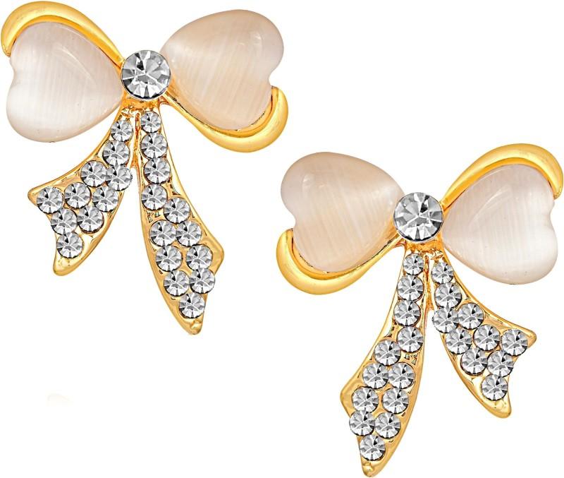 Divastri Pattern Round Alloy Stud Earring