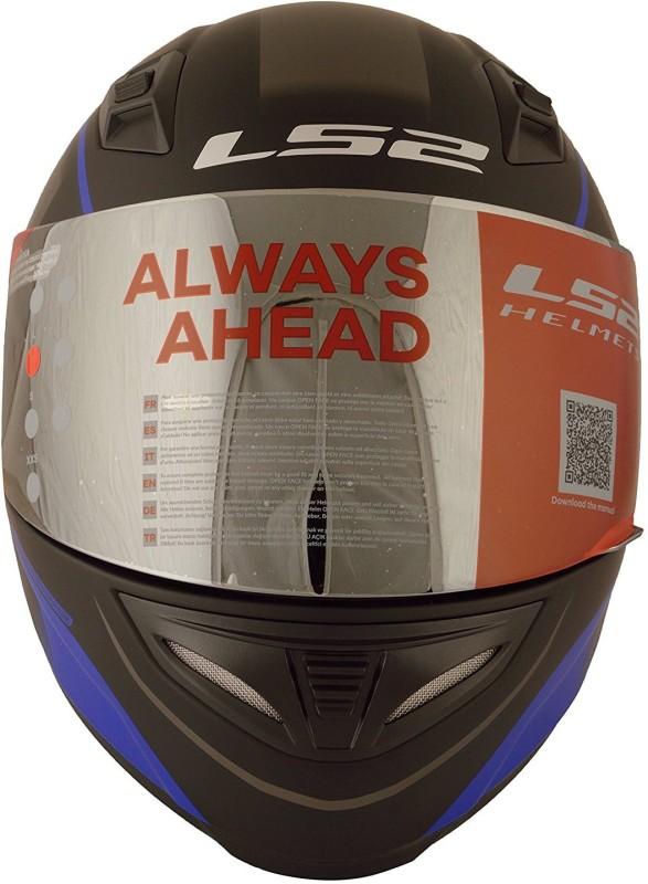 LS2 LS2 FF 391 Night Breaker Black Blue Motorbike Helmet(Black)