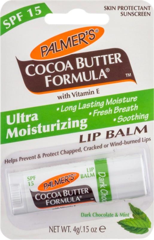 Palmer's Dark Chocolate & Peppermint Ultra Moisturizing Lip Balm Dark chocolate and mint(Pack of: 1, 4 g)