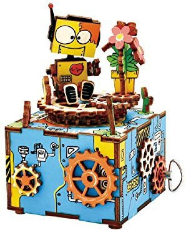 Robotime Machinarium 3D Wooden Music Box Kit(1 Pieces)