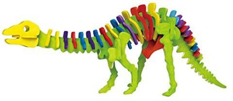 Robotime 3D Jigsaw Puzzle Wood Diy Craft Kit Model Dragon Lizard Painting Toy For Children Jp219B(39 Pieces)