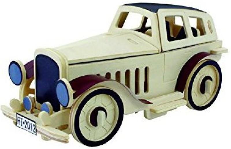 Robotime 3D Jigsaw Puzzle Wood Diy Educational Toys Classic Car Puzzles Craft Kit For Kids Jp352(43 Pieces)