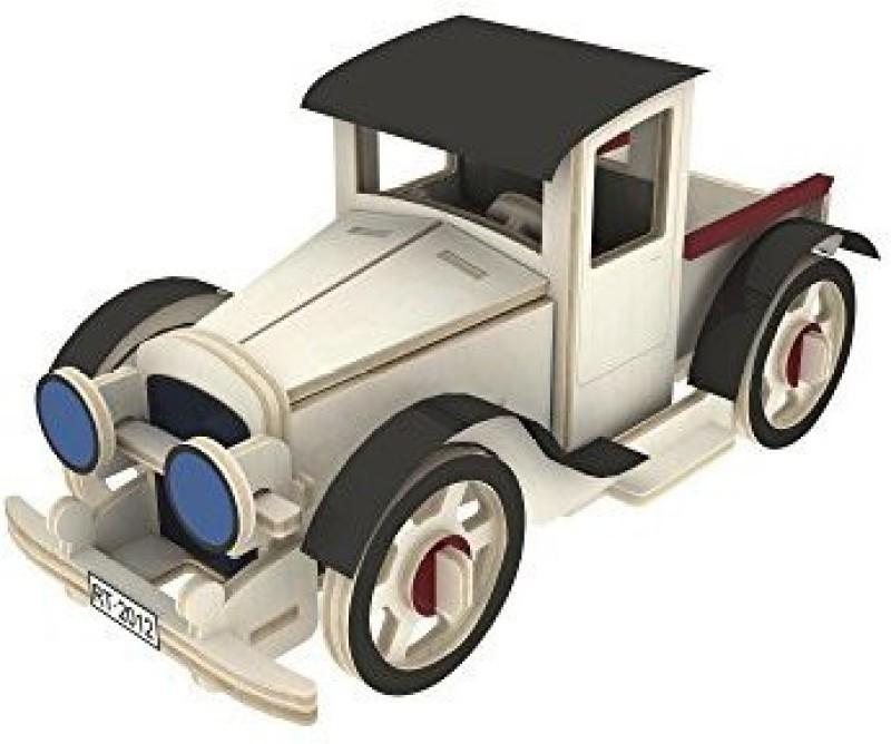 Robotime 3D Jigsaw Puzzle Wood Diy Educational Toys Classic Car Puzzles Craft Kit For Kids Jp353(59 Pieces)
