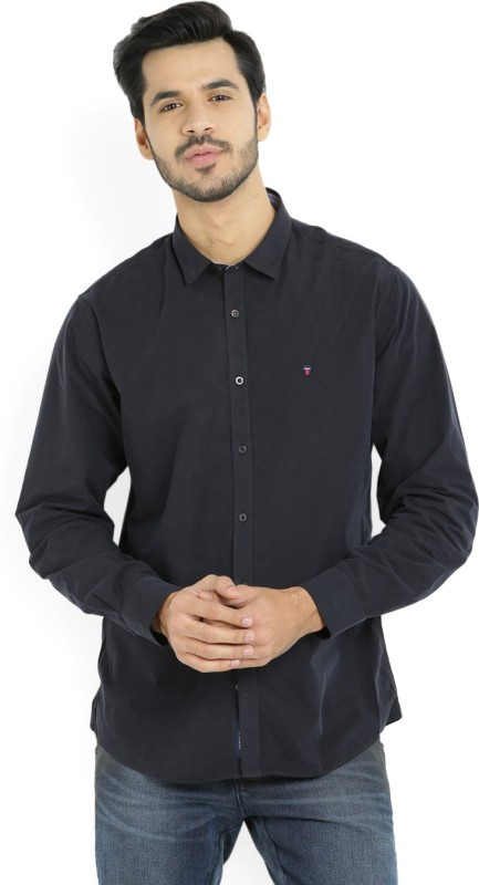 LP Louis Philippe Mens Solid Casual Black Shirt