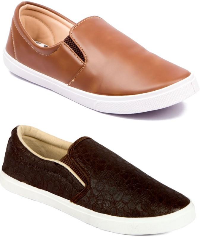 Asian M-2018 & STATUS Canvas Shoes For Men(Brown, Tan)