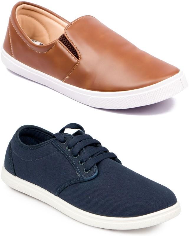 ASIAN MR-121 & STATUS Canvas Shoes(Blue, Tan)