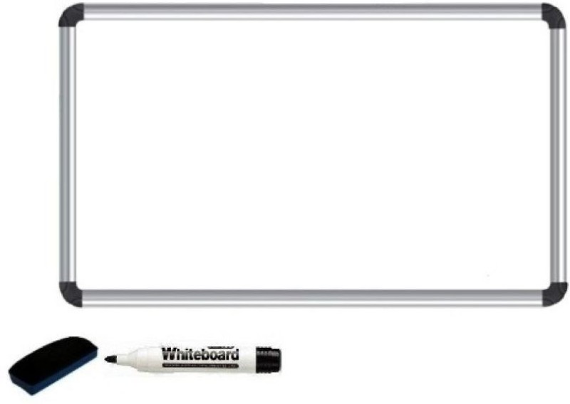 Masterfit Reversible Melamine 61 x 45 cms Whiteboards and Duster Combos(Set of 1, White)