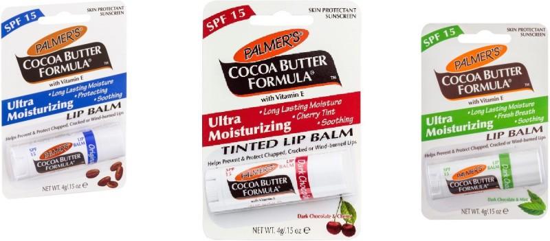 Palmer's Ultra Moisturizing Lip Balm (Original+Dark chocolate & Mint+Dark chocolate & Cherry)(Set of 3)