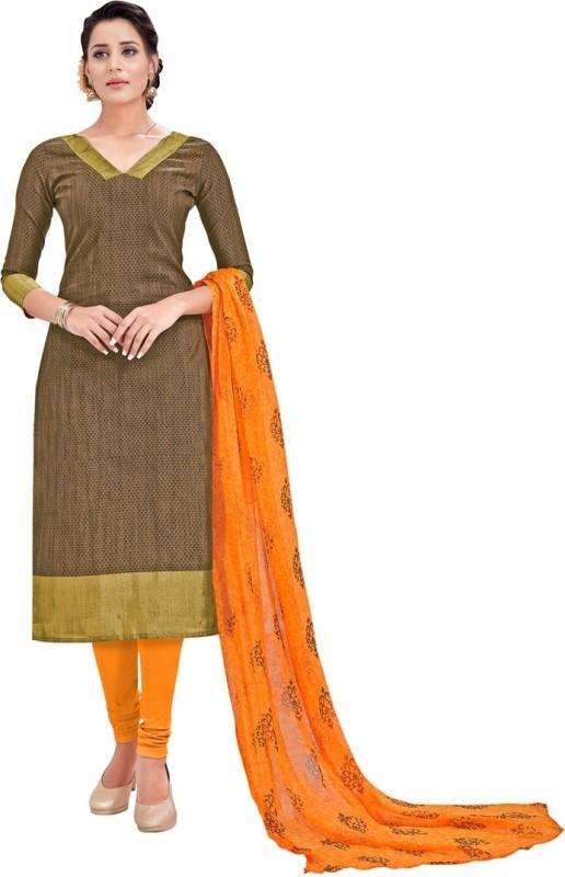 Manvaa Silk Embellished Semi-stitched Salwar Suit Dupatta Material