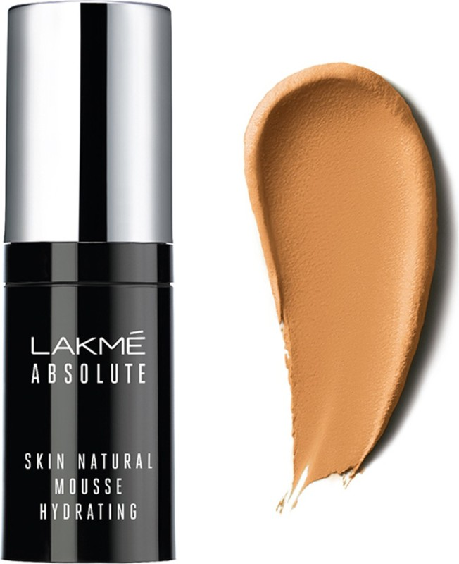 Lakme Absolute Skin Natural Mousse Hydrating Foundation(Velvety Beige, 15 ml)