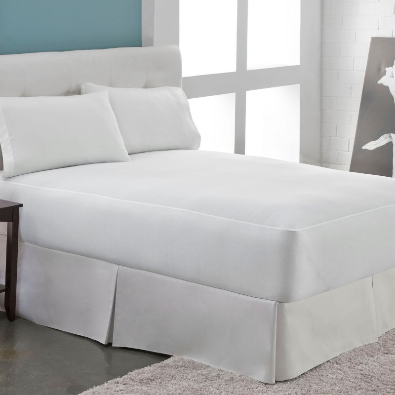 ANIL FASHIONS Fitted King Size Waterproof Mattress Protector(White)