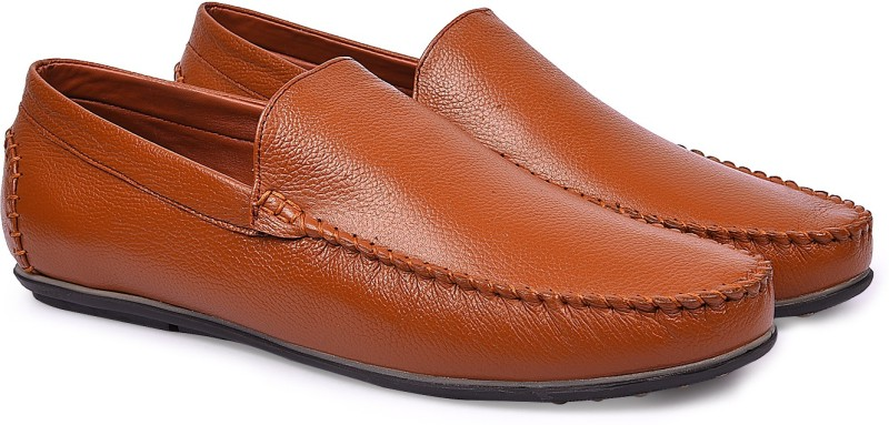 Andrew Scott Mens Tan Leather Loafers(Tan)