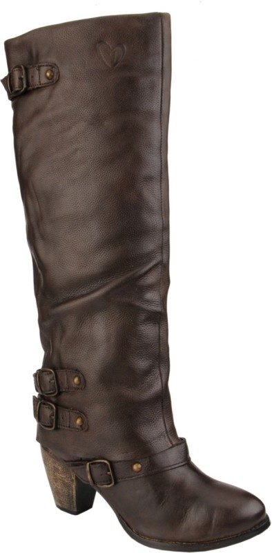 Delize Synthetic Boots For Women(Brown)