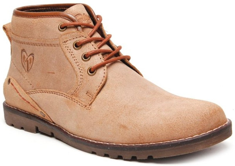 Delize Synthetic Boots For Men(Beige)