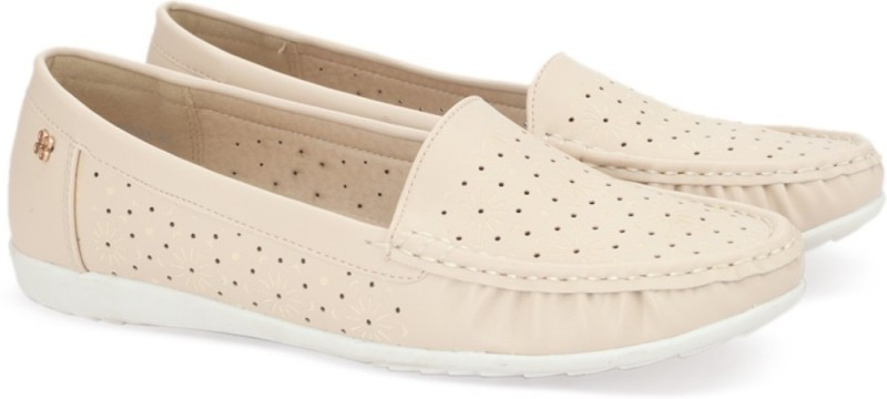 Addons Addons Cream Colored Loafers Loafers(Beige)