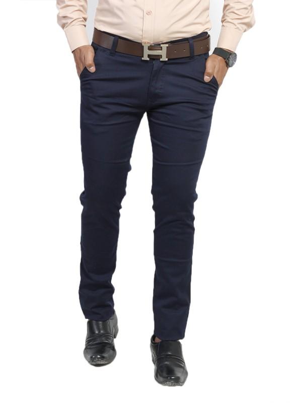 Bdow Fashion Collection Slim Fit Men's Blue Trousers