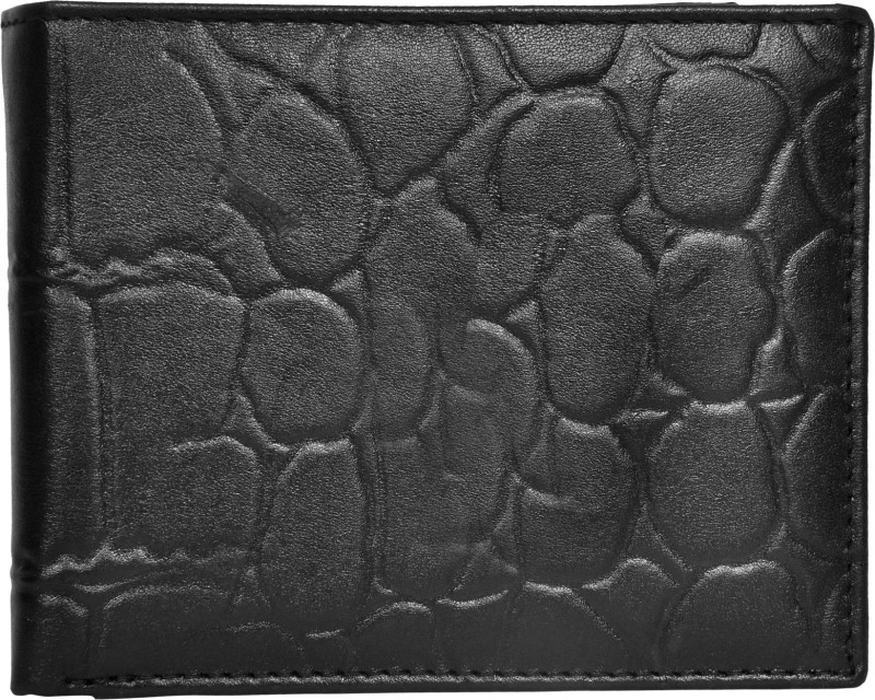 Chandair Men Black Genuine Leather Wallet(10 Card Slots)