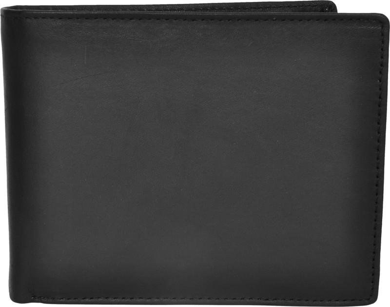 Chandair Men Black Genuine Leather Wallet(12 Card Slots)