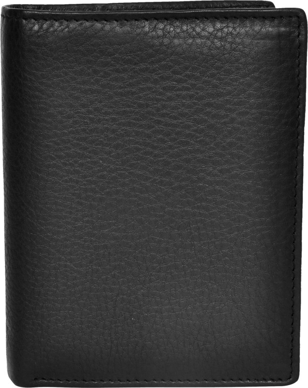 Chandair Men Black Genuine Leather Wallet(15 Card Slots)