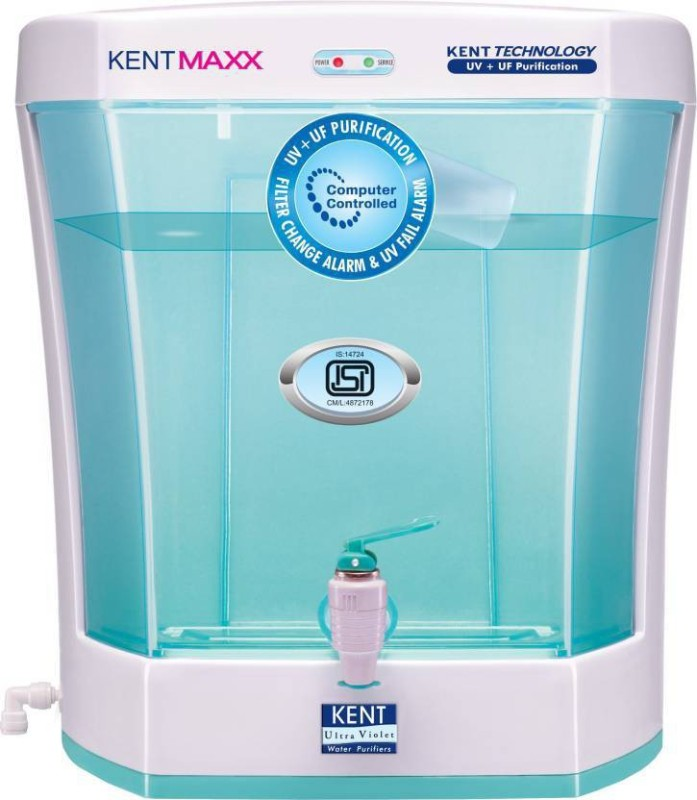 Kent Maxx Litre 7 L UV + UF Water Purifier(White & Blue)