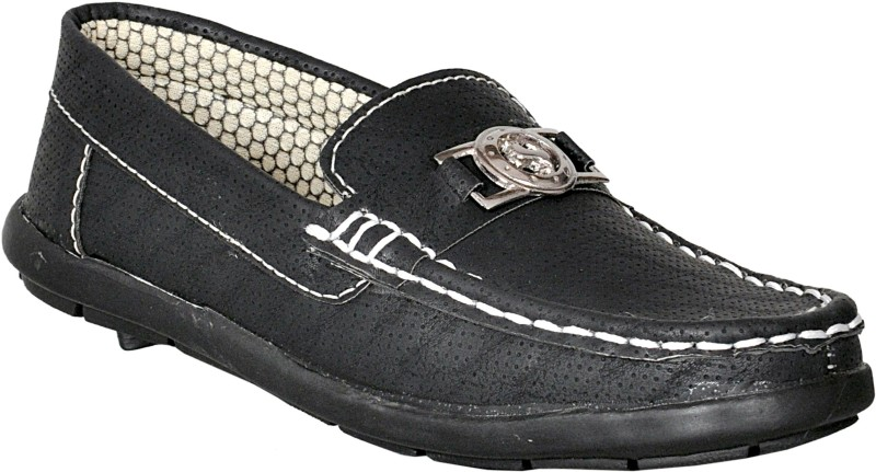 Leon Boys Slip on Loafers(Black)