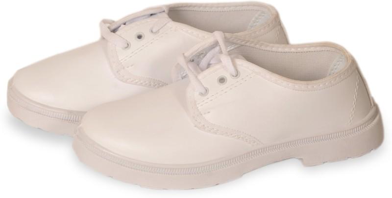 6Four Shoes Boys Lace Monk Strap Shoes(White)