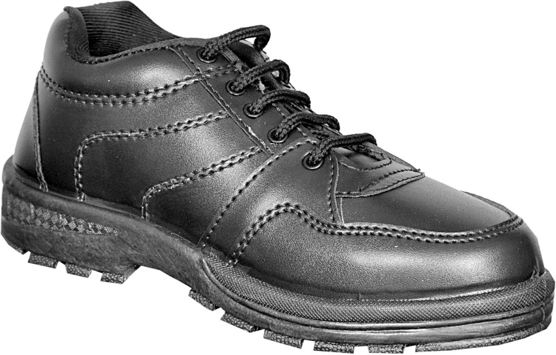 Pollo Boys Lace Formal Boots(Black)
