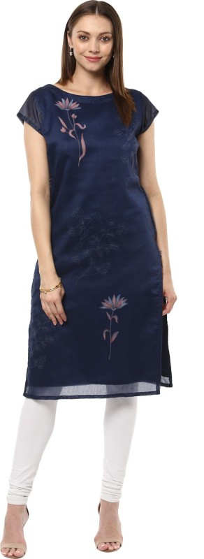INDIMANIA Festive & Party Novelty Women Kurti(Blue)