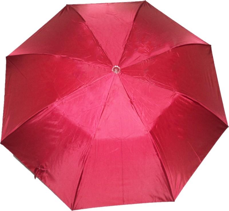 K.C Paul Soumi Two Fold Umbrella(True Red)