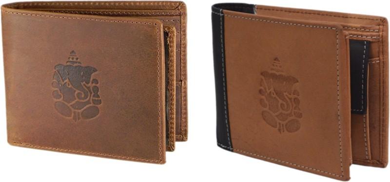Hidelink Men Multicolor Genuine Leather Wallet(7 Card Slots)