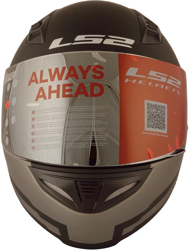 LS2 LS2 Pisoton Black Grey Motorbike Helmet(Black)