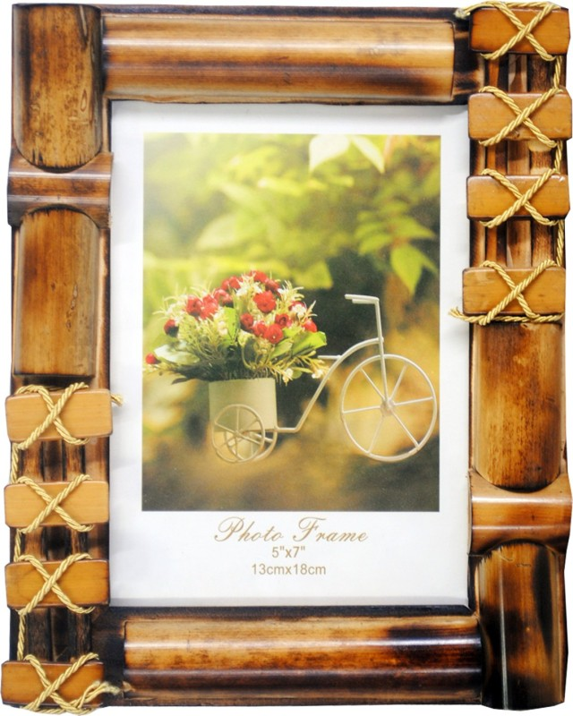 RAINBOW PRINTS AND GIFTS Wood Photo Frame(Brown, 1 Photos)