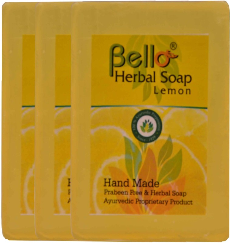 Bello Herbal Soap Lemon pack of 3(225 g, Pack of 3)