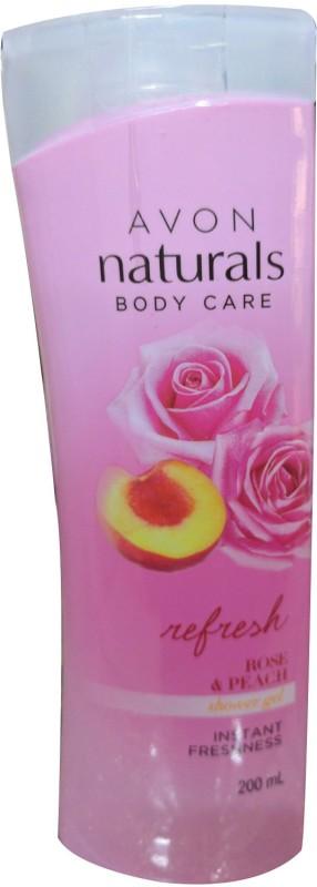 Avon Naturals Body care Rose & Peach Shower Gel(200 ml)