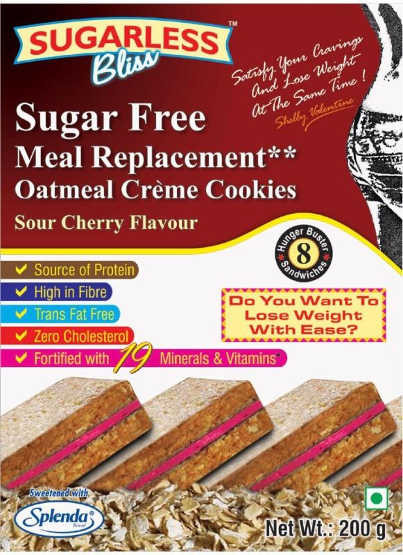 Sugarless Bliss Sugar Free Oatmeal Crme Cookies - Sour Cherry(200 g)