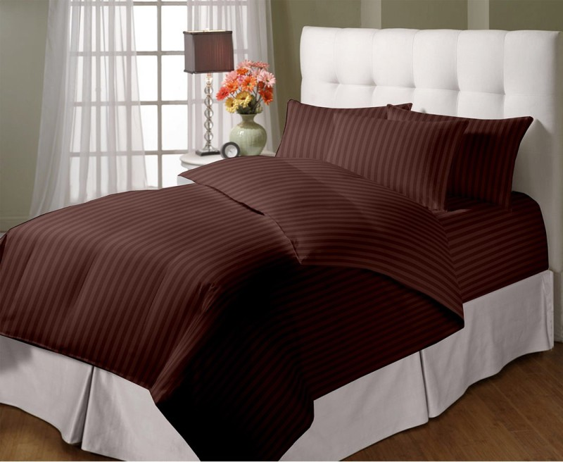 Cloth Fusion Queen Cotton Duvet Cover(Brown)