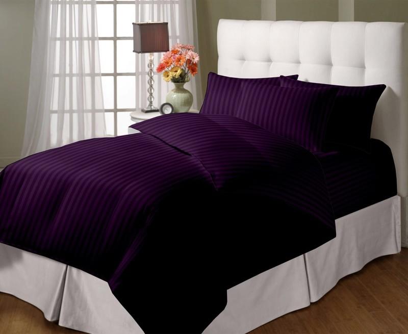 Cloth Fusion Queen Cotton Duvet Cover(Purple)